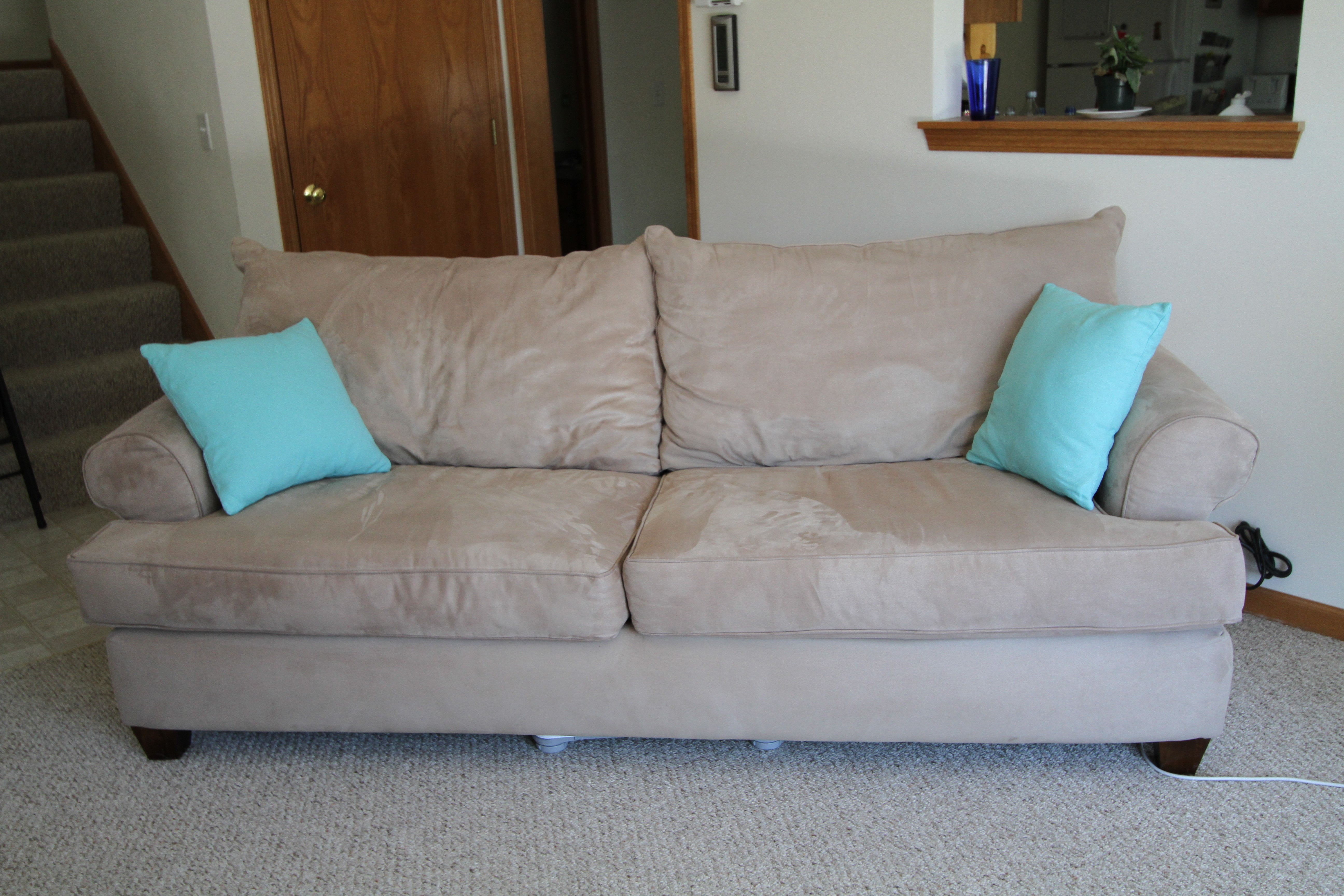 Tan Microfiber Sofa Sofa Simmons Microfiber Reviewsover Atner Recliner - TheSofa